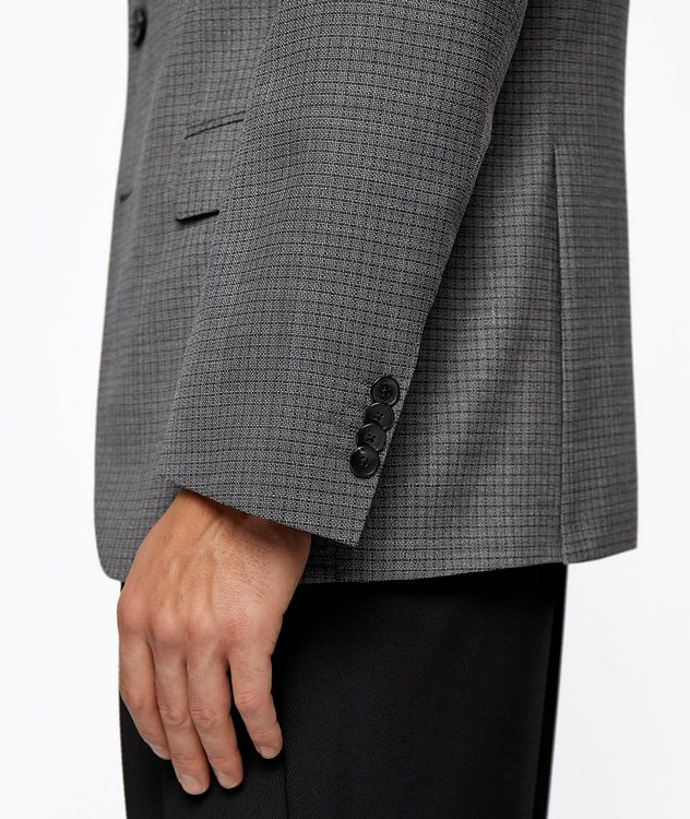 Huge6 Slim-Fit Checked Sports Jacket picture 6
