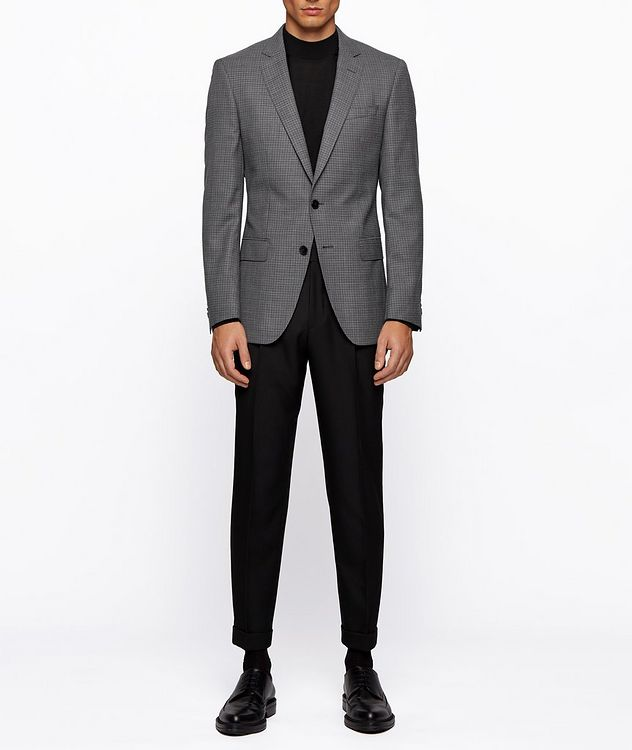 Huge6 Slim-Fit Checked Sports Jacket picture 7