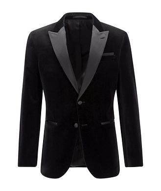 BOSS Helward4 Slim-Fit Velvet Tuxedo Jacket