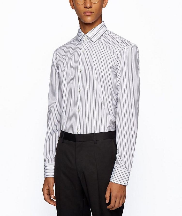 Slim Fit Easy-Iron Striped Dress Shirt image 1