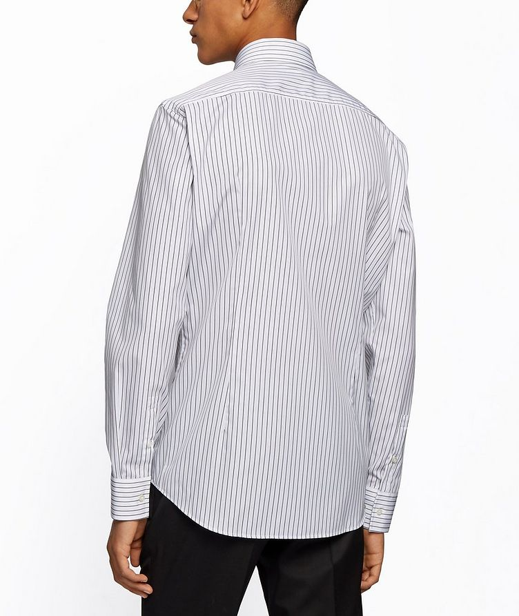 Slim Fit Easy-Iron Striped Dress Shirt image 2