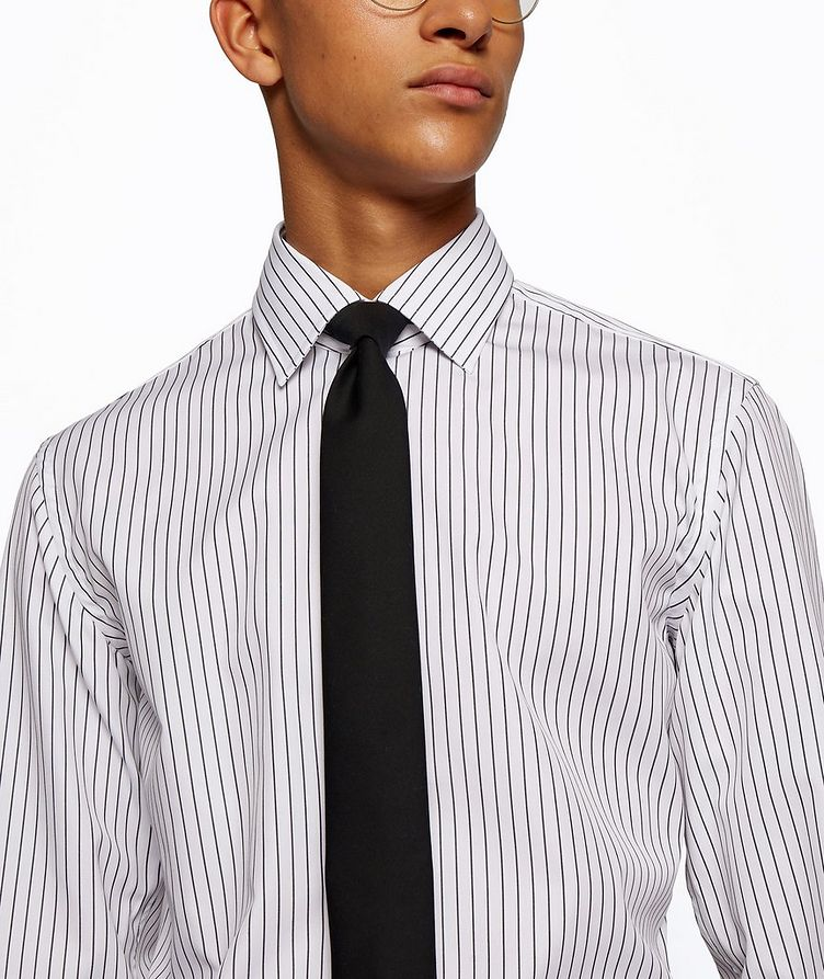 Slim Fit Easy-Iron Striped Dress Shirt image 3