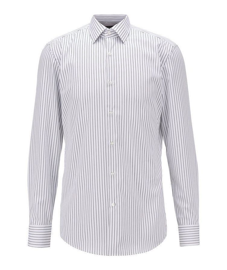 Slim Fit Easy-Iron Striped Dress Shirt image 0