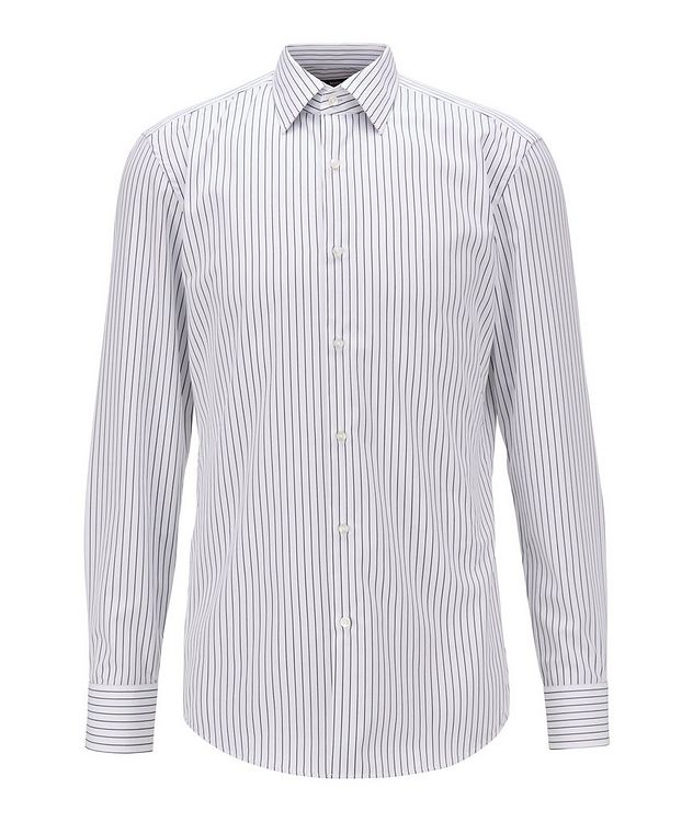 Slim Fit Easy-Iron Striped Dress Shirt picture 1
