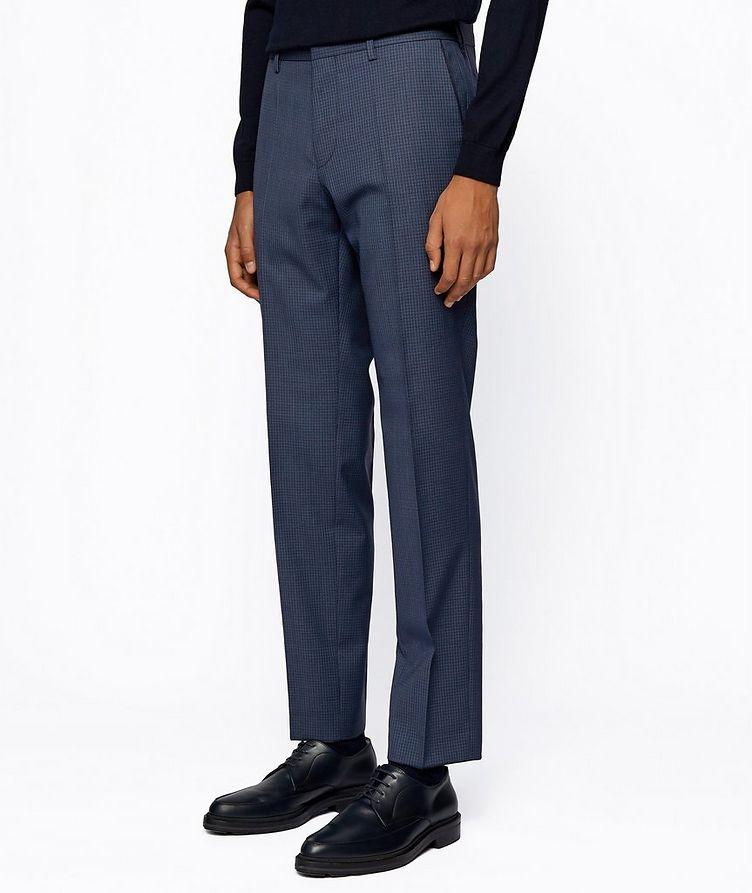 Pantalon habillé en twill extensible de coupe amincie image 1