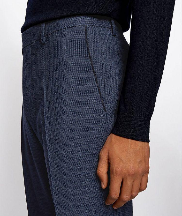 Pantalon habillé en twill extensible de coupe amincie image 3