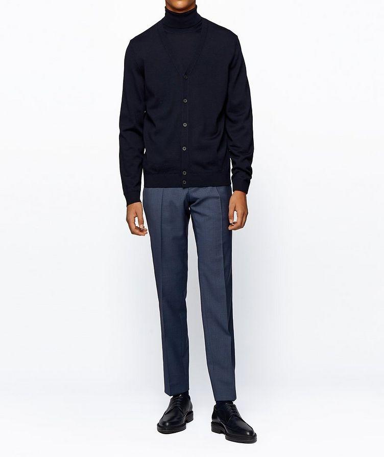 Pantalon habillé en twill extensible de coupe amincie image 4