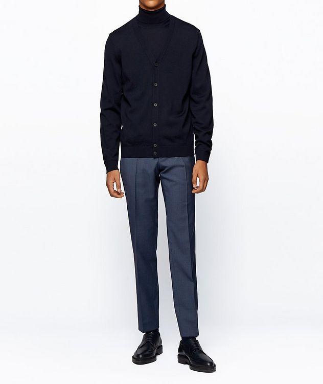 Pantalon habillé en twill extensible de coupe amincie picture 5