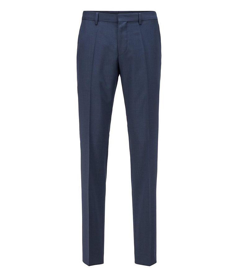 Pantalon habillé en twill extensible de coupe amincie image 0
