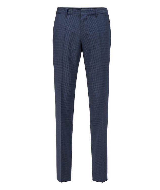 Pantalon habillé en twill extensible de coupe amincie picture 1