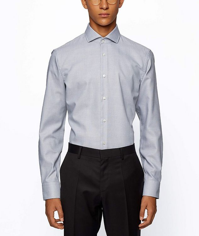 Printed Stretch-Blend Dress Shirt picture 2