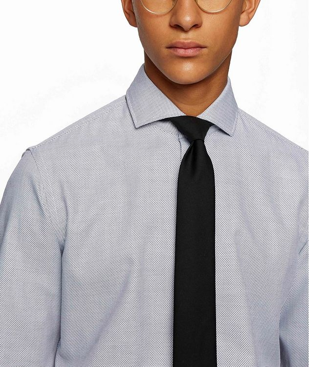 Printed Stretch-Blend Dress Shirt picture 4