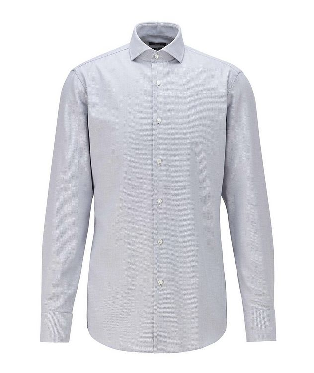 Printed Stretch-Blend Dress Shirt picture 1