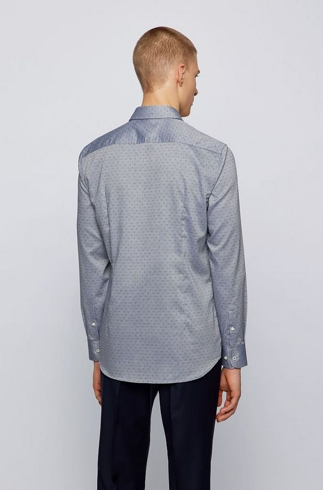 Slim-Fit Dobby Cotton Dress Shirt picture 3