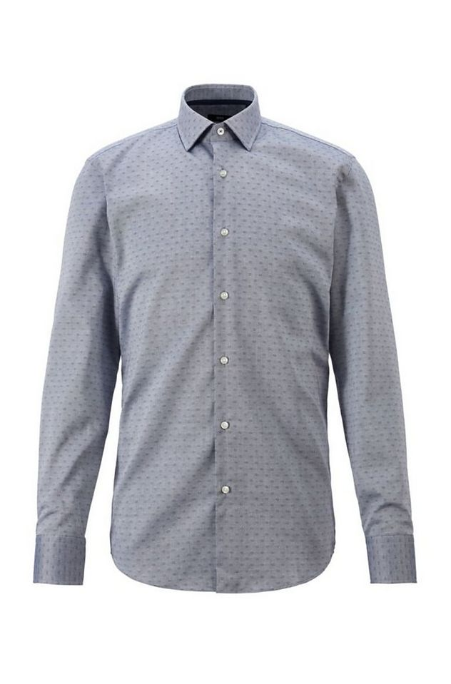 Slim-Fit Dobby Cotton Dress Shirt picture 1