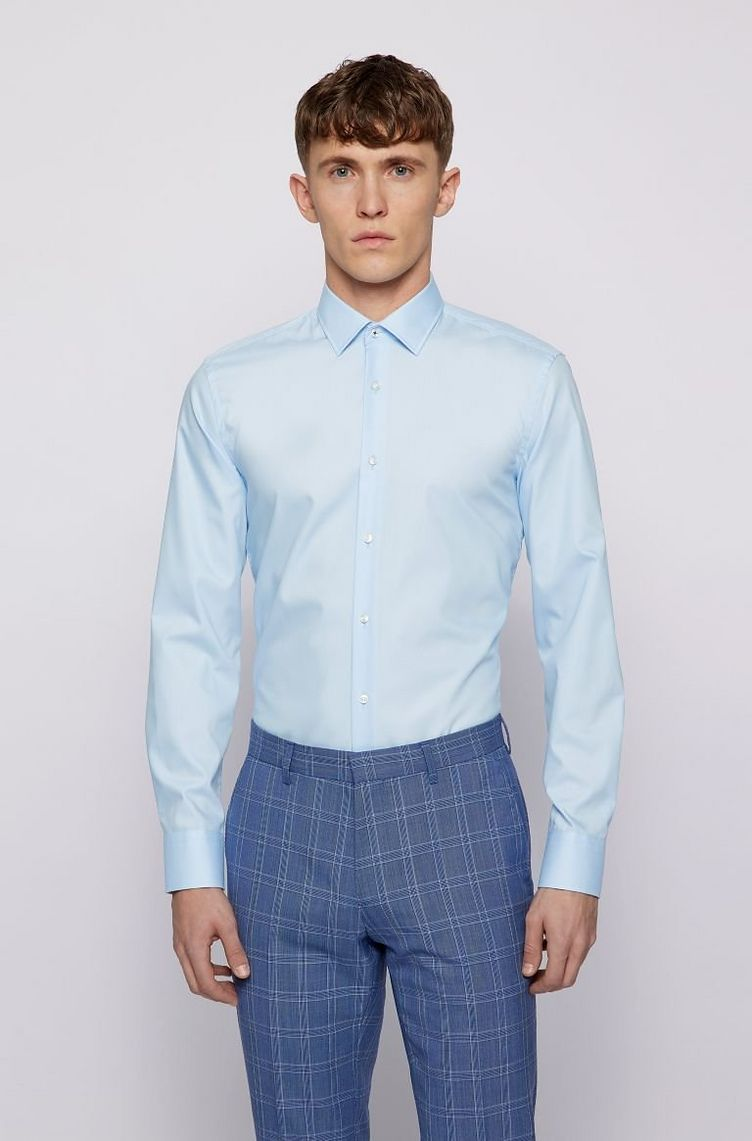 Slim-Fit Easy Iron Dress Shirt  image 1