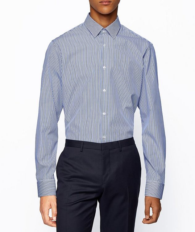 Contemporary-Fit Easy-Iron Striped Dress Shirt picture 2