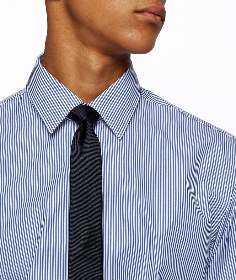 Contemporary-Fit Easy-Iron Striped Dress Shirt image 3