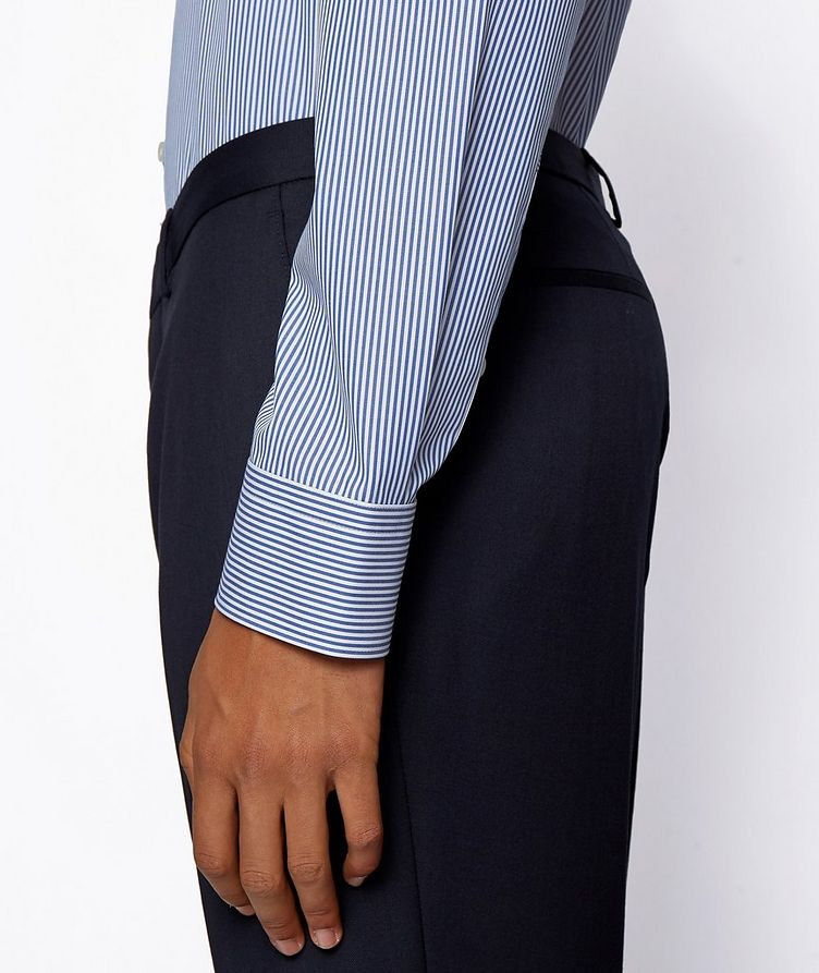 Contemporary-Fit Easy-Iron Striped Dress Shirt image 4