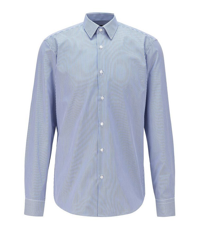 Contemporary-Fit Easy-Iron Striped Dress Shirt image 0