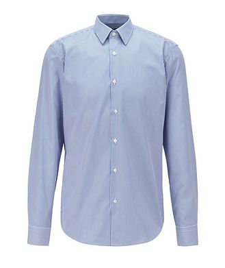 BOSS Contemporary-Fit Easy-Iron Striped Dress Shirt
