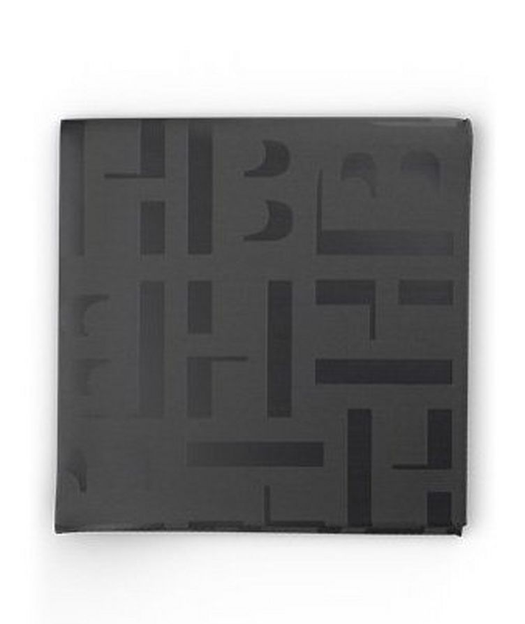 Monogram Print Pocket Square image 0