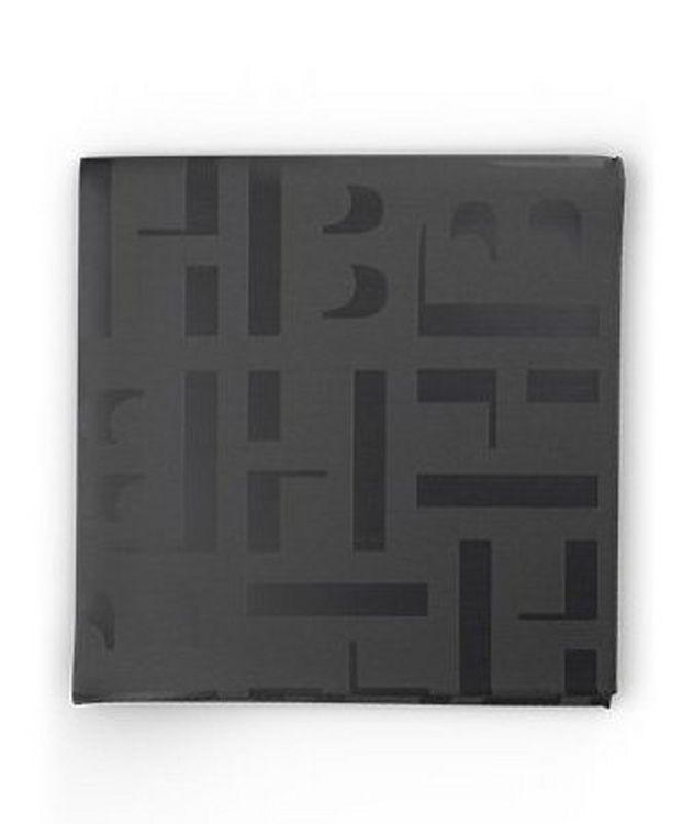 Monogram Print Pocket Square picture 1