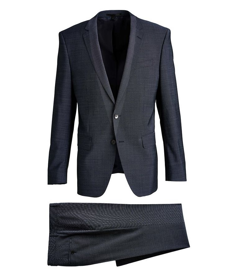 Huge6/Genius5 Slim-Fit Checked Wool Suit image 0