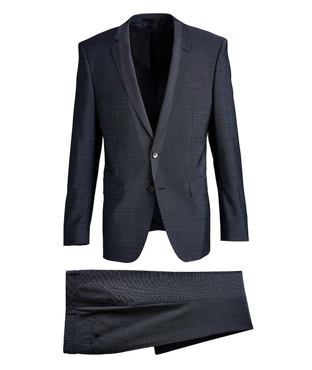 Huge6/Genius5 Slim-Fit Checked Wool Suit picture 1