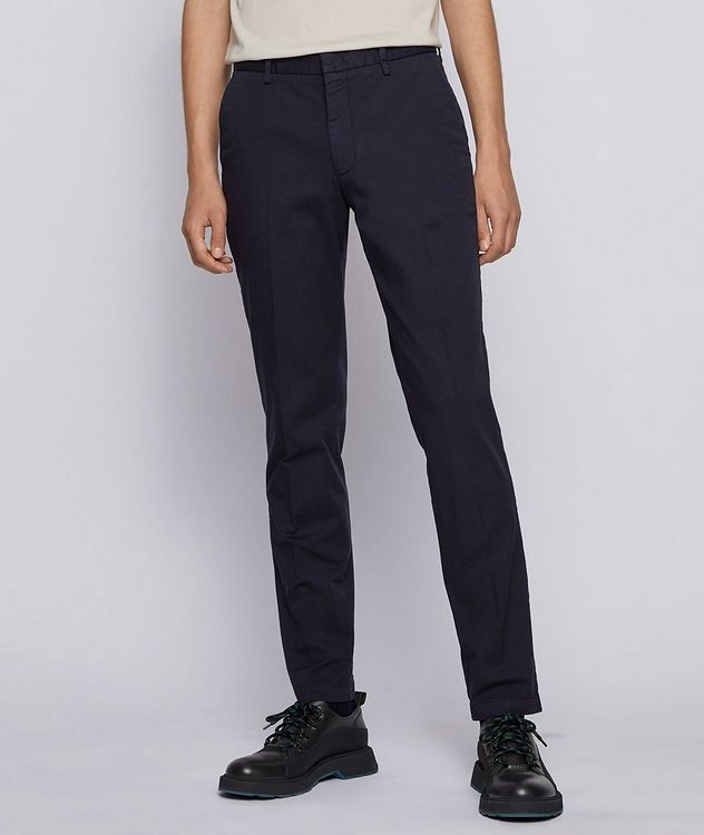 Kaito1 Slim Fit Stretch-Cotton Chinos picture 2