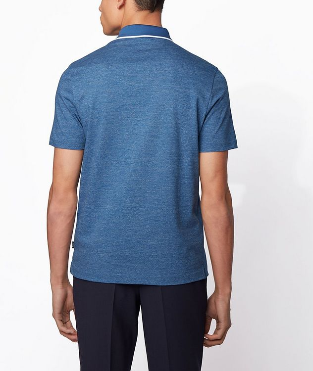 Slim-Fit Heathered-Cotton Polo picture 3