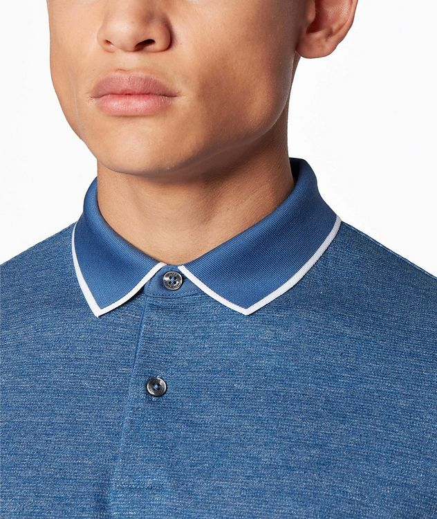 Slim-Fit Heathered-Cotton Polo picture 4