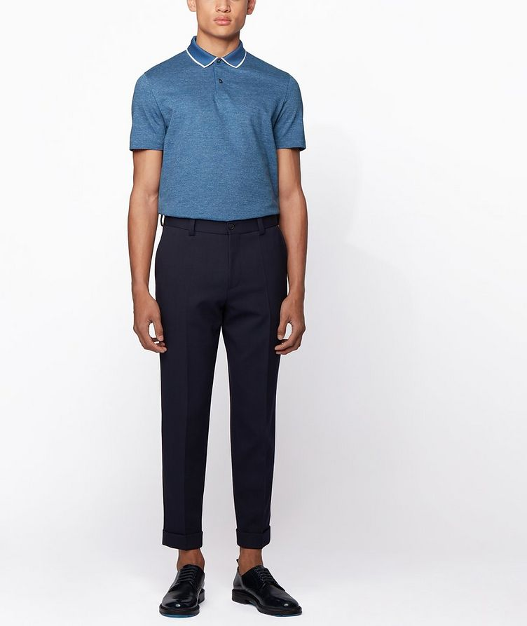 Slim-Fit Heathered-Cotton Polo image 4