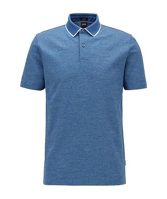 BOSS Slim-Fit Heathered-Cotton Polo