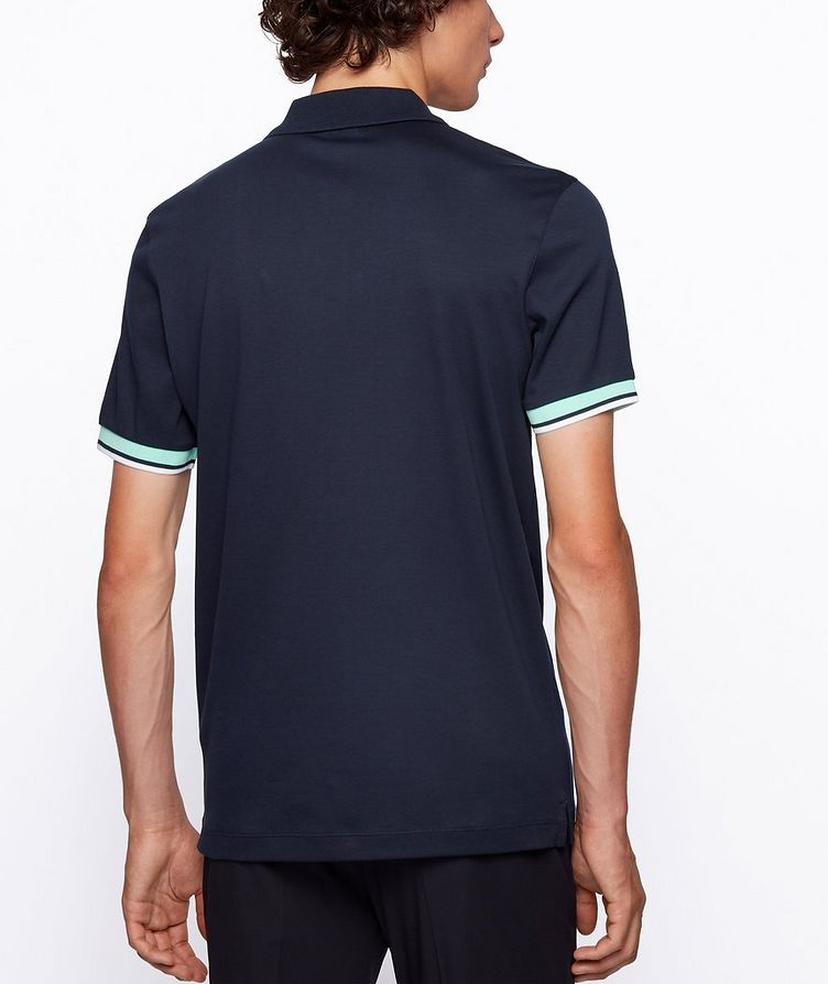 Slim-Fit Block-Striped Polo image 2