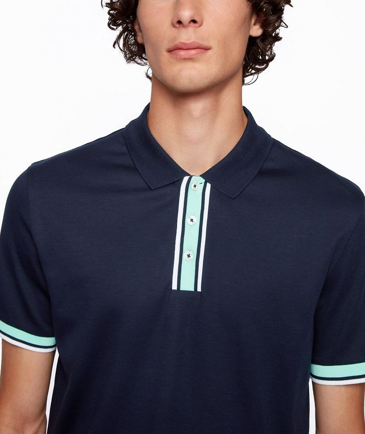 Slim-Fit Block-Striped Polo image 3