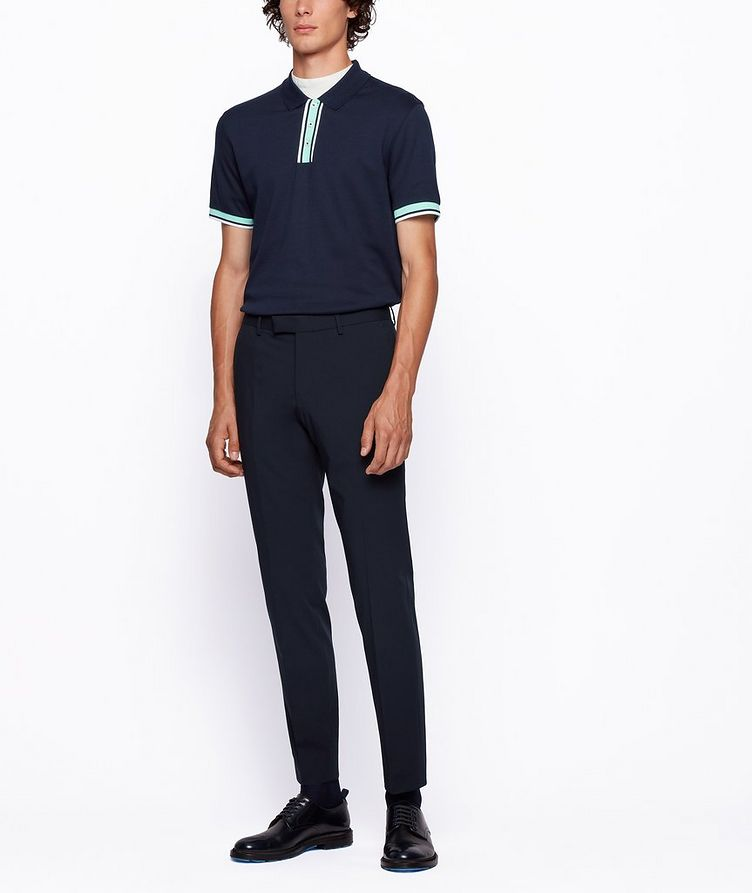 Slim-Fit Block-Striped Polo image 4