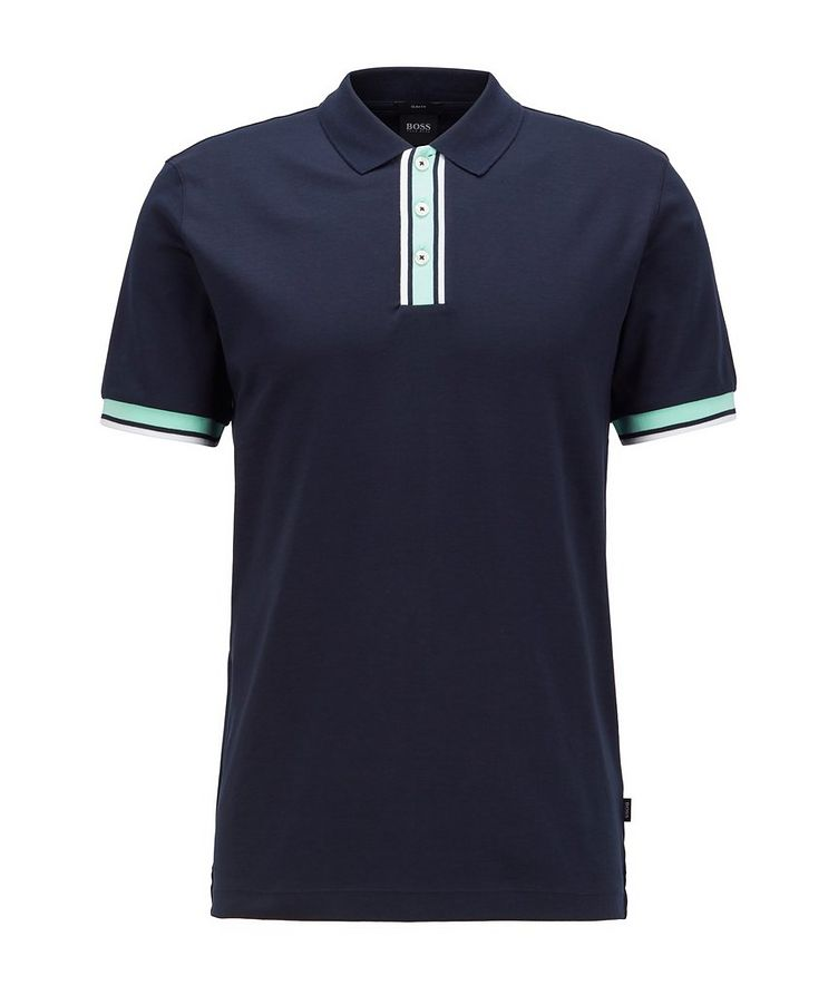 Slim-Fit Block-Striped Polo image 0