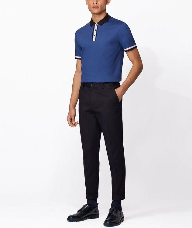 Slim-Fit Block-Striped Polo picture 5