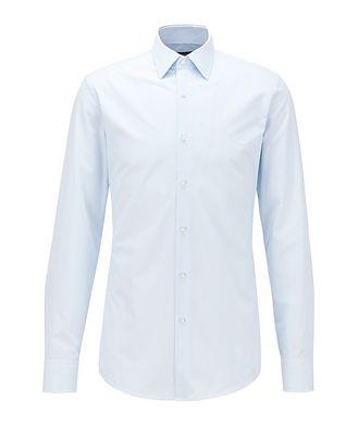 BOSS Slim-Fit Patterned Dress Shirt