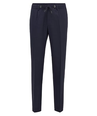 BOSS Bardon Slim-Fit Drawstring Dress Pants