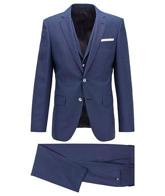 BOSS Hutson5/Gander3 Slim-Fit Crosshatched Suit