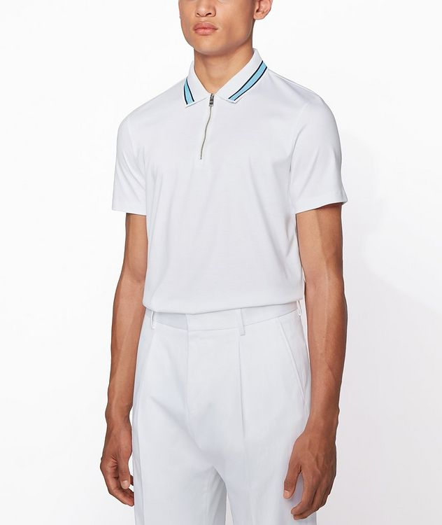 Half-Zip Cotton Polo picture 2
