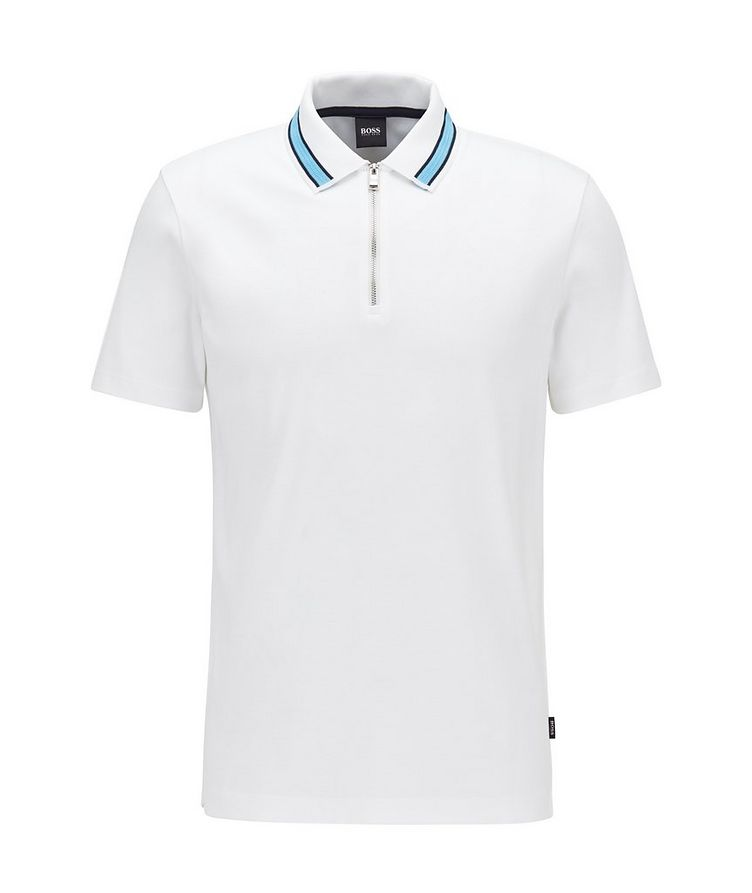 Half-Zip Cotton Polo image 0