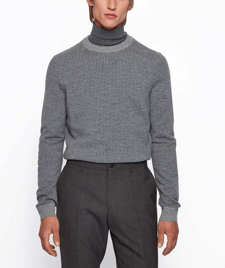 Micro-Houndstooth Turtleneck image 2