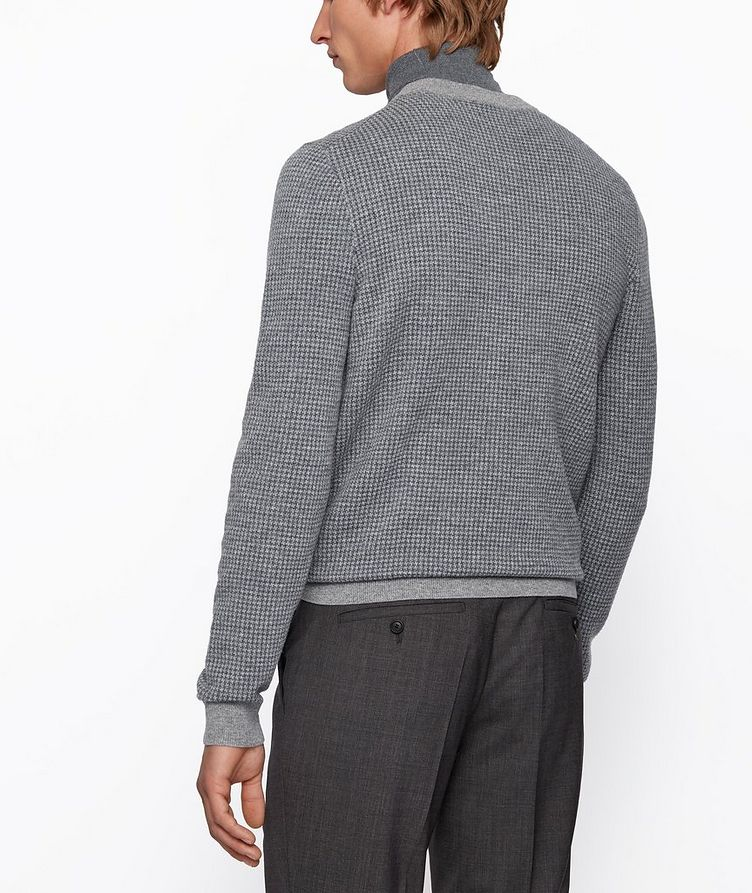 Micro-Houndstooth Turtleneck image 3