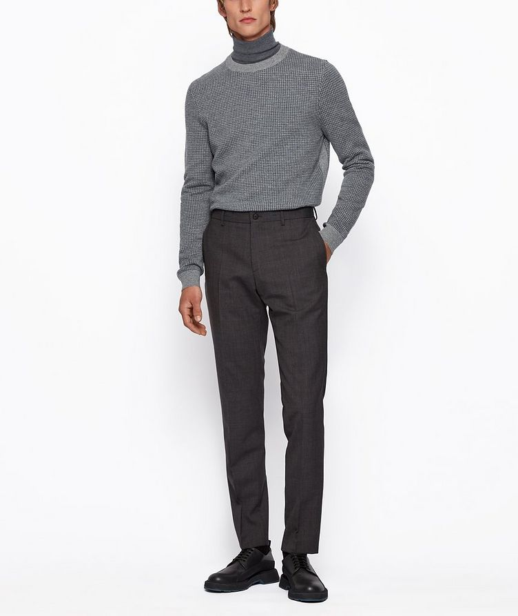 Micro-Houndstooth Turtleneck image 4