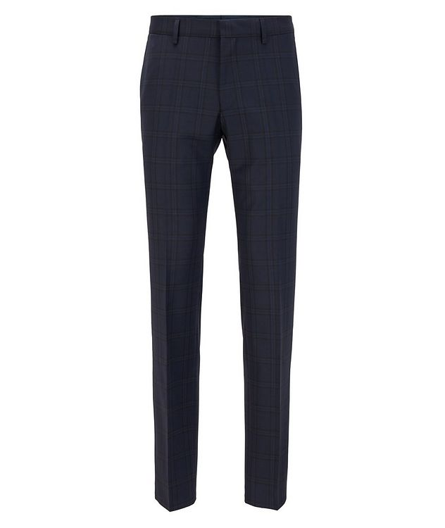 Genius5 Slim-Fit Checked Dress Pants picture 1