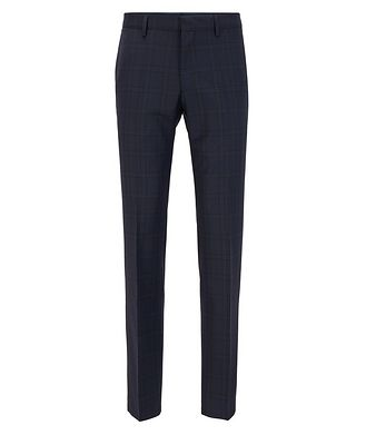 BOSS Genius5 Slim-Fit Checked Dress Pants