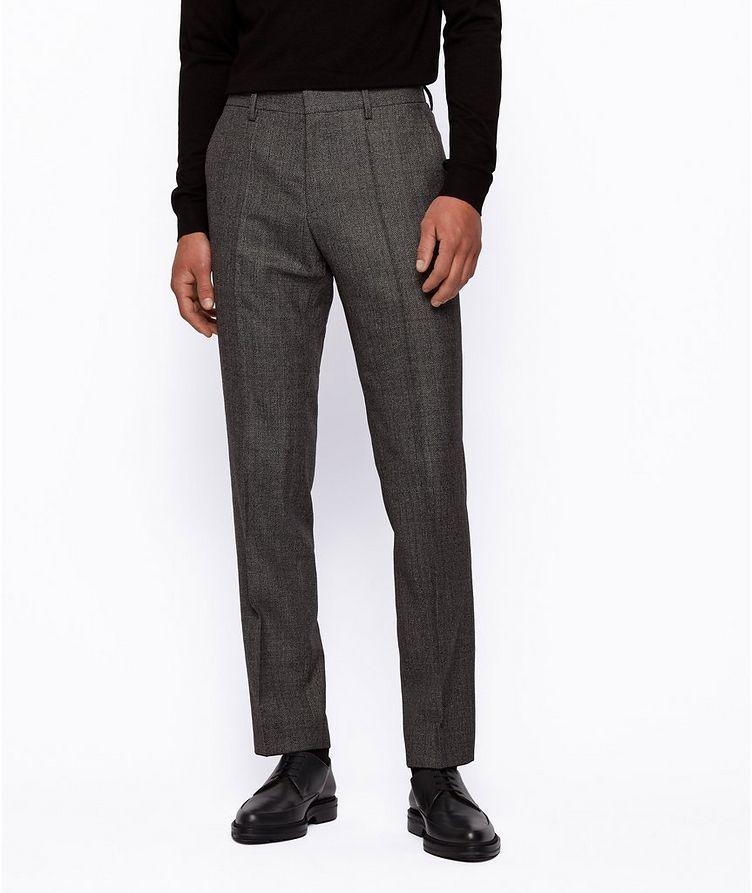 Genius5 Slim-Fit Herringbone Dress Pants image 1